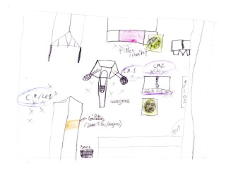 Plan de la cour réalisée par les élèves