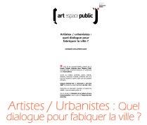 Artistes_urbanistes